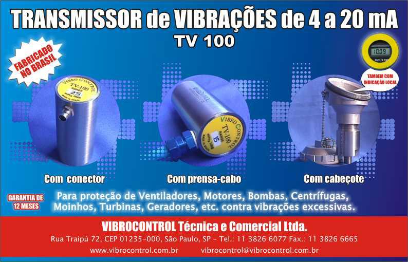 Transmissor de vibrações TV 100